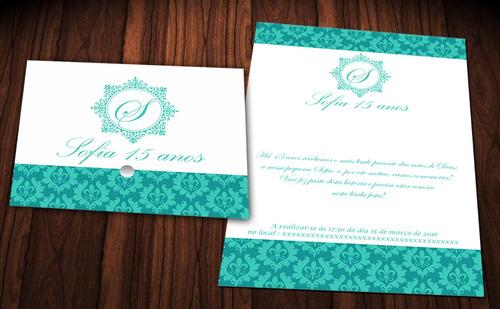 120 convite debutante casamento debutante 15 anos r$1,00 cd