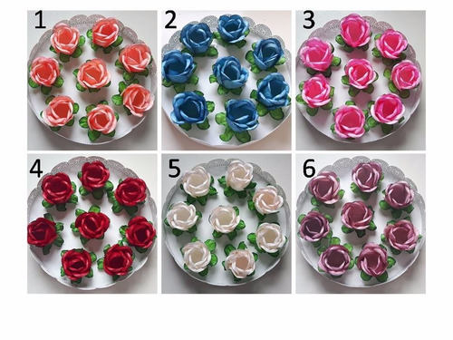 120 forminhas de rosa  para doces  finos azul tiffany