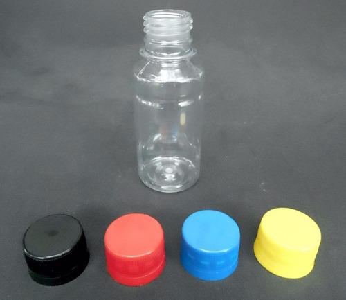 120 frasco pet cristal 100ml + tampas p/ tintas solventes...