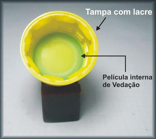 120 frasco pet cristal 250 ml + tampa lacre p/ tintas ...