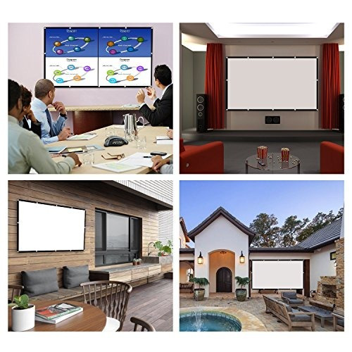 120 inch projector screen, p-jing 16:9 hd foldable portable
