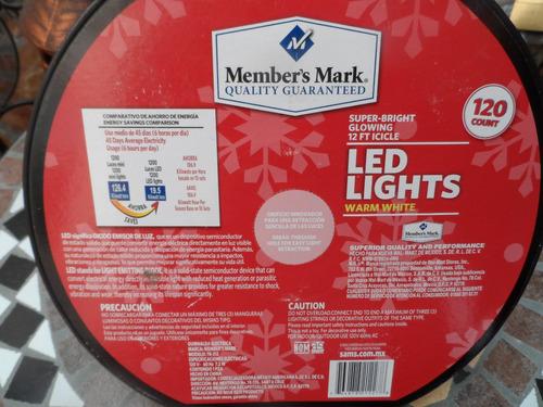 120 luces navideñas member's mark estalactita de 3.6 mts