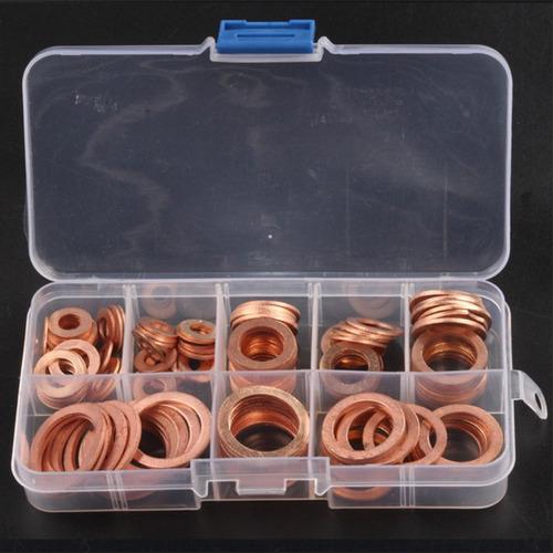 120 pcs 8 tamanhos anilhas plano kit sortimento - arruelas h