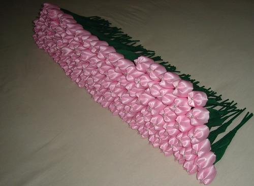 120 tulipas em tecido para lembrancinhas