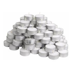 120 Velas Rechaud Brancas Em Suporte Alumínio - 4hrs Queima