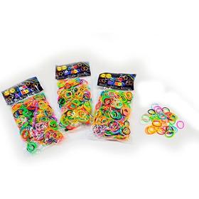 1200 Gomitas Para Pelo De Colores Colitas Multicolor Trenzas Trenzado Banditas Para Cabello