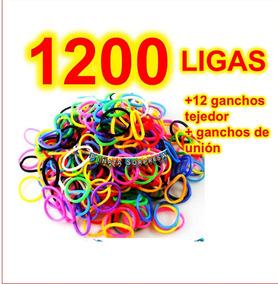 bf6e0aa5e9bb 1200 Ligas Pulseras Loom Bands Economico Juguete Piñata Bolo