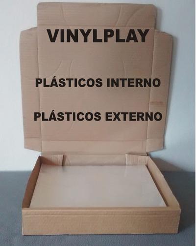 1.200 plasticos p/capas externo+interno lp discovinil novela