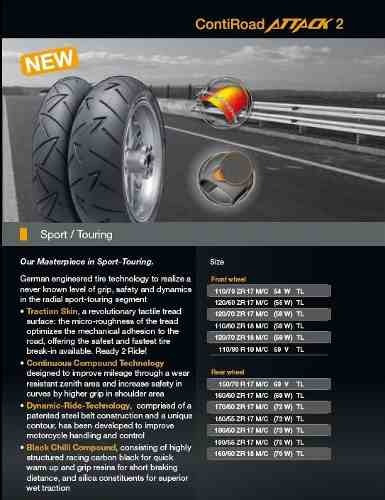 120/70r17 continental road attack 2  58w germany!