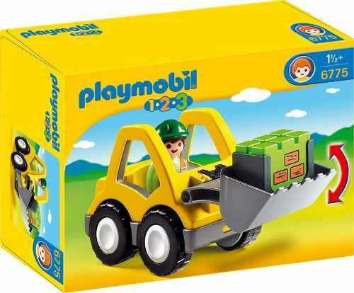 1.2.3 excavadora playmobil  r3111