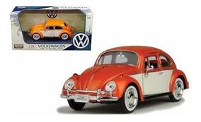 coche modelo 1:18//GreenLight Collectibles VW Escarabajo Gulf #54 azul claro//naranja