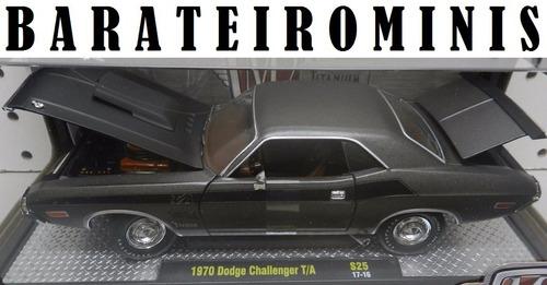 1:24 1970 dodge challenger t/a - m2 titanium barateirominis