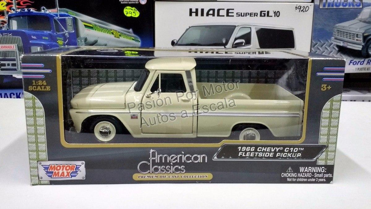 653fd646b074f 1 24 Chevrolet C10 Pickup 1966 Beige Motor Max C Caja -   495.00 en ...