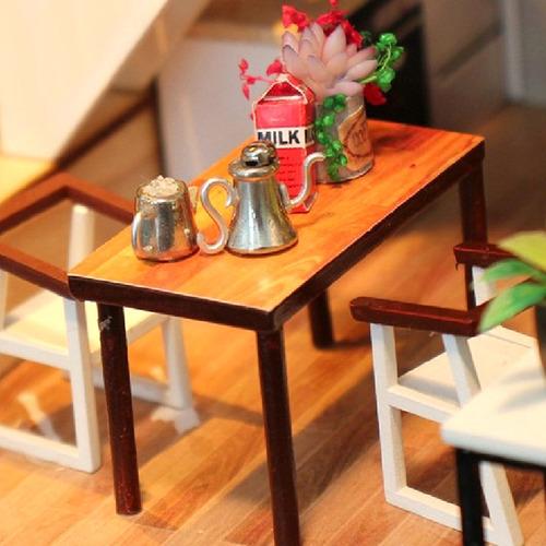 1:24 kits de casa de muñecas miniatura diy estilo europeo