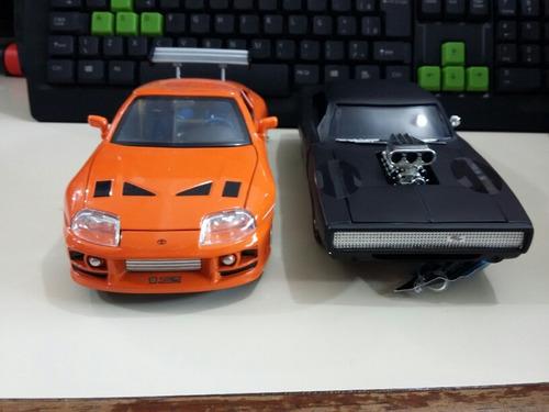1/24 miniatura velozes e furiosos  kit com 2 pç