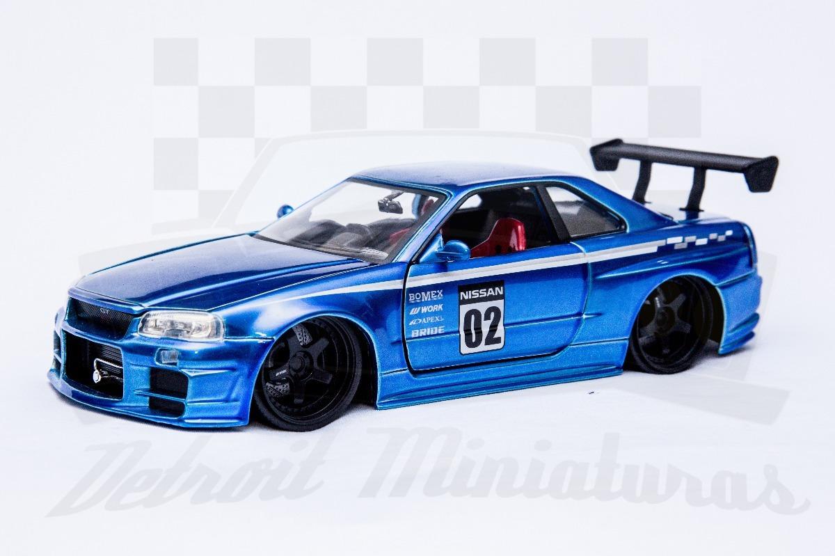 ... Nissan Skyline Gtr R34 Jdm Jada Azul. Carregando Zoom.