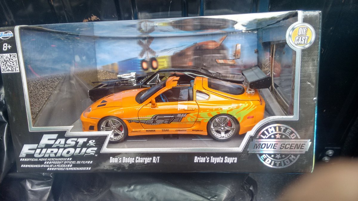 set toyota supra  dodge charger rt fast furious  en mercado libre