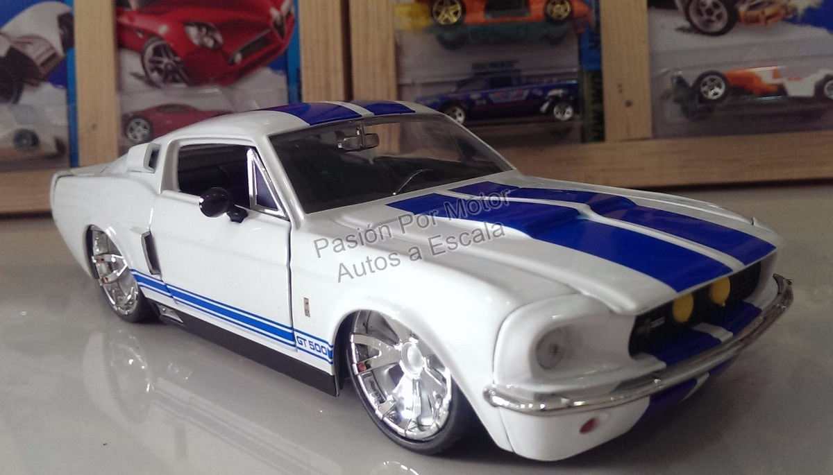 Shelby gt500 1967 blanco jada ford mustang display cargando zoom