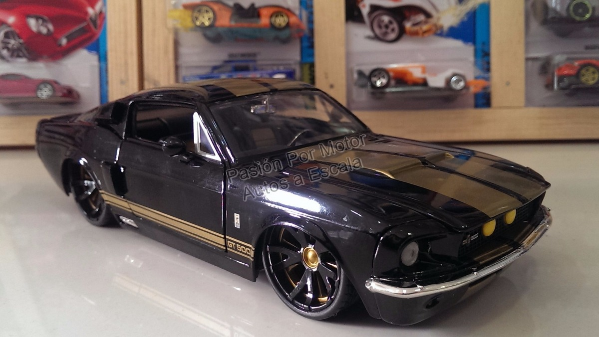 1 24 Shelby Gt500 1967 Negro Jada Ford Mustang Display