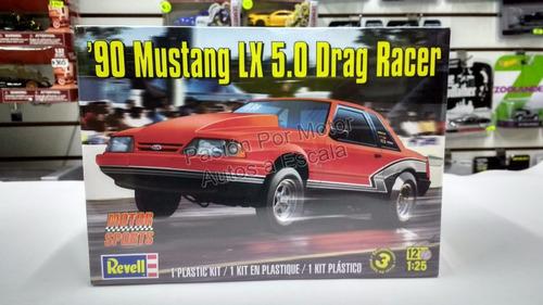 1:25 mustang lx 5.0 drag racer 1990 revell p armar y pintar