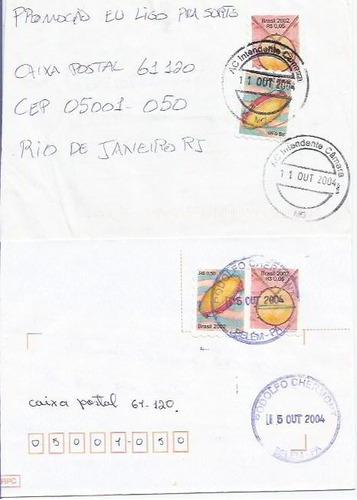 127 - lote c/12 envelopes brasil circulados - diferentes