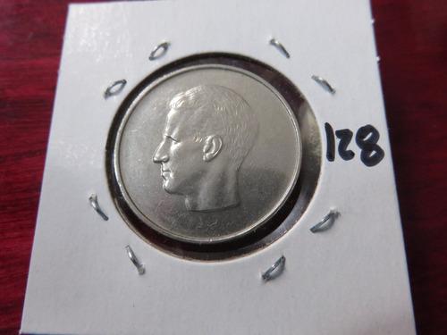 #128 moneda del mundo belgica 1972