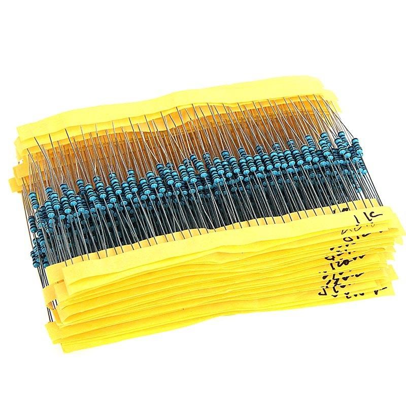 20Pcs each)1-10M Ohm Electronic Resistance Components Assorment Kit 1280Pcs 1//4W Metal Film Resistors 64 Values