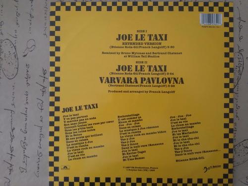 12´´maxi vanessa paradis joe le taxi franc musikmercadolibre