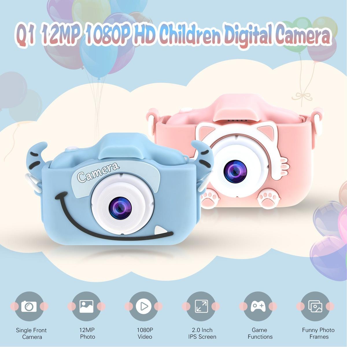 """Cámara Digital Rosa Niños 2.0/"""" HD LCD videocámara Mini Niño Regalos De Cumpleaños"""