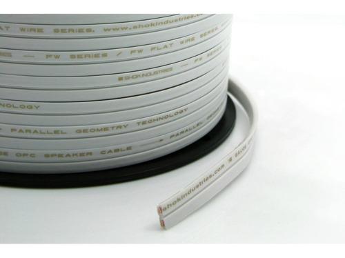 12mt cabo alto-falante shok fw flat cobre 16awg / 2 x 1,5mm²