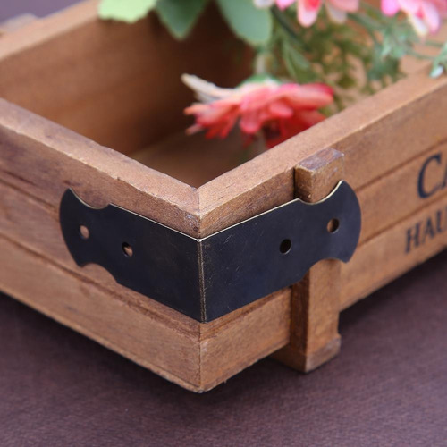 12pcs cuatro agujeros decorativos antiguos joyas regalo caja
