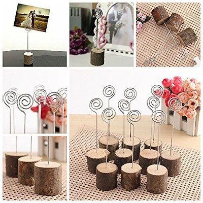12pcs memo base madera foto papel nota clip boda lugar nombr