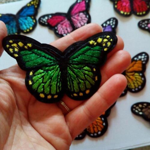 12pcs parche mariposa de ropa etiqueta para planchar arte de