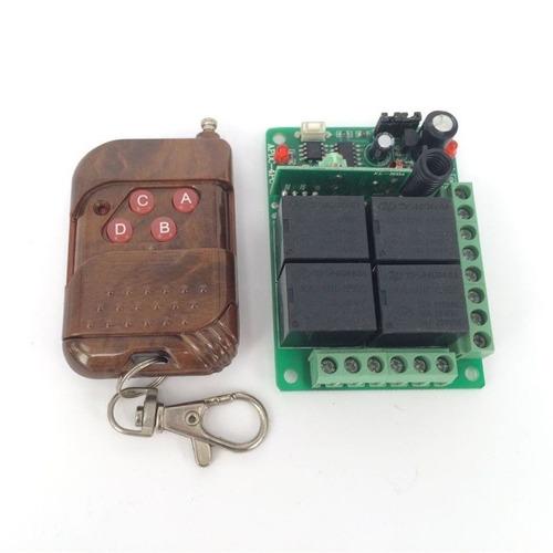 12v 4 canales control remoto inalámbrico interruptor de