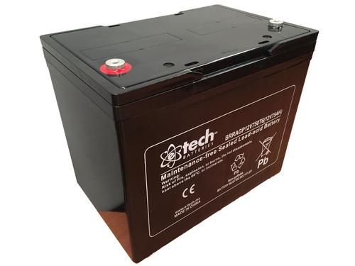 12v 75ah batería vrla gp para ups, silla eléctrica de ruedas