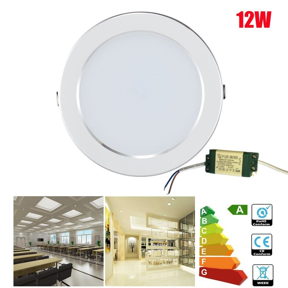 12w led panel light round recessed lighting fixture embedded cargando zoom aloadofball Images