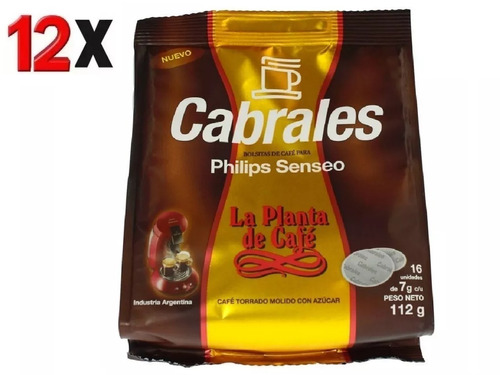 12x cafe cabrales la planta hd1286 philips senseo capsula