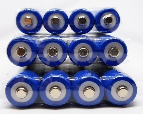 12x pila bateria recargable aa de 3000mha azul la mejor