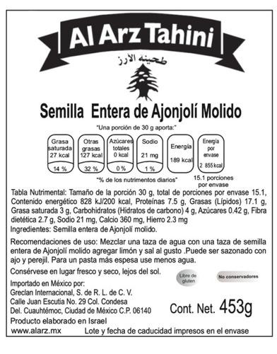 12x10 al arz tahini clasico 453 gr superfood caja de 12