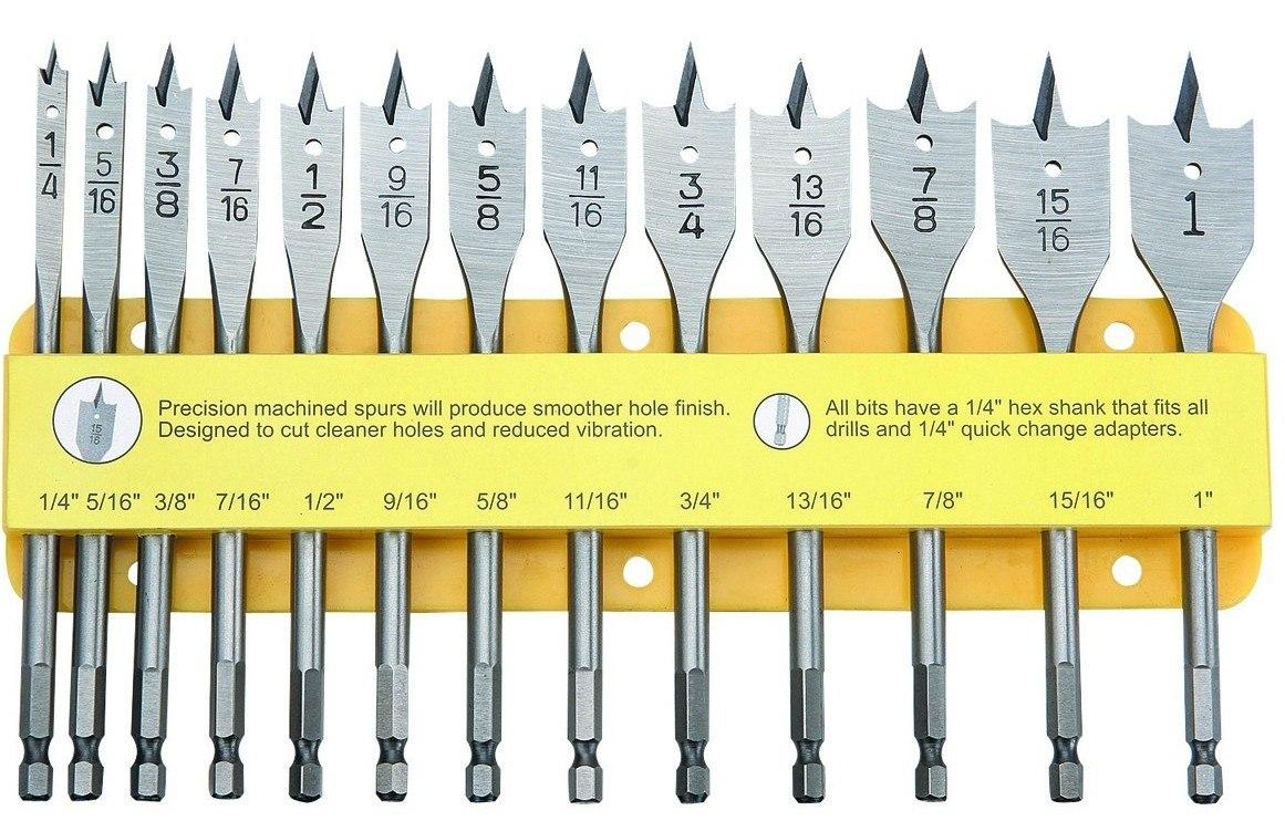13 brocas espada para taladro madera pvc acrilico plastico - Taladro de la madera ...