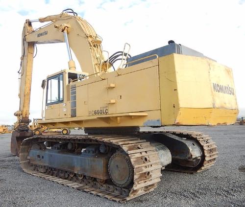 13) excavadora hidraulica komatsu pc650-3 1990 de 67 ton.