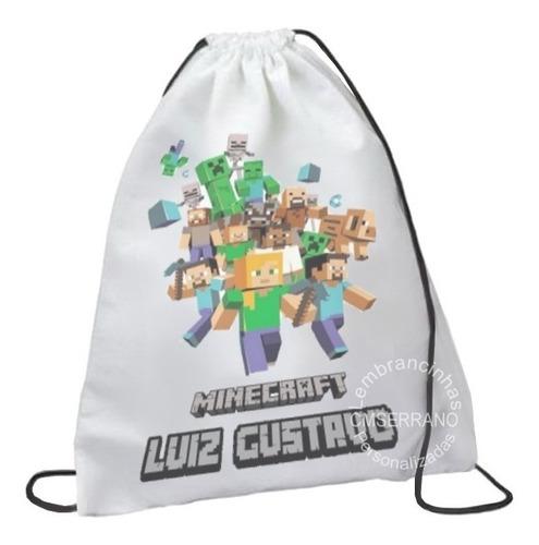 13 mochila saquinho tecido personalizada 40 x 25 cm
