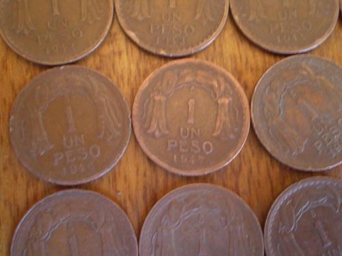 13 monedas serie completa de 1 peso cobre 42-54