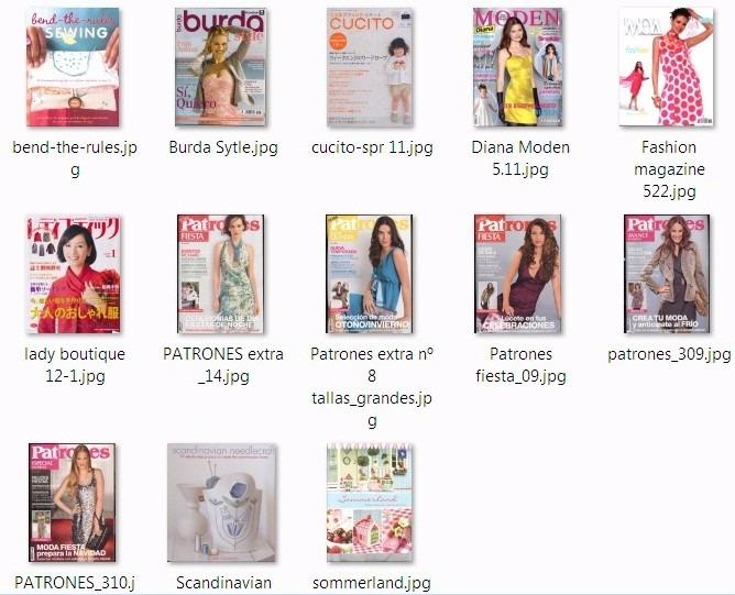 13 Revistas Internacionales De Costura - Bs. 500,00 en Mercado Libre