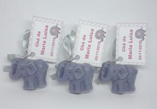 130 lembrancinhas elefante chevron sabonete chá de bebê