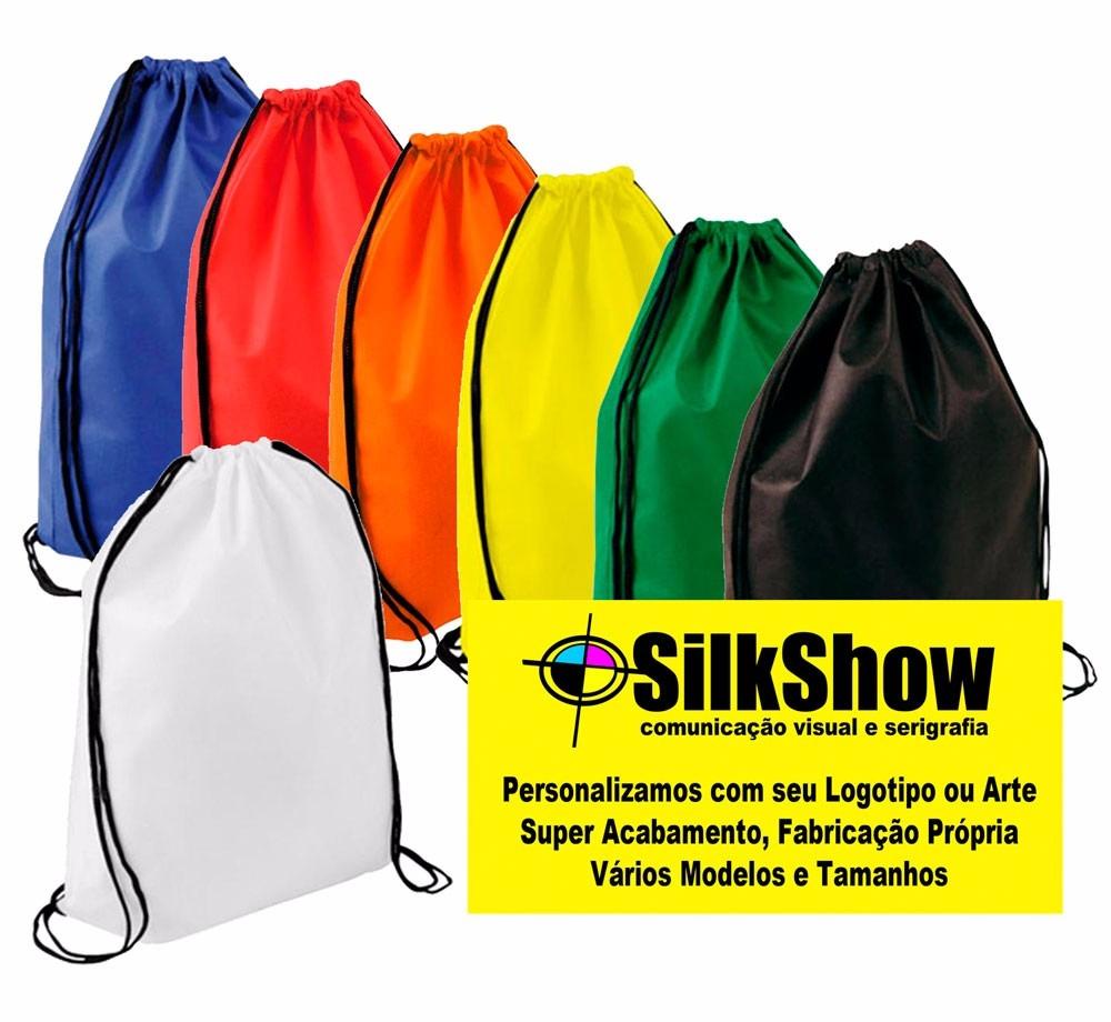 509bbd56a 130 Sacochila Personalizada Tnt 20 X 30 Saco Ecobag Mochila - R$ 388,00 em  Mercado Livre