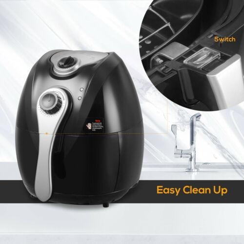 1300w eléctrico qt 4,4 aceite menos aire freidora