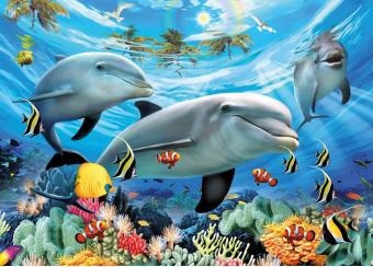 13052 sonrisa delfines rompecabezas 300 piezas ravensburger