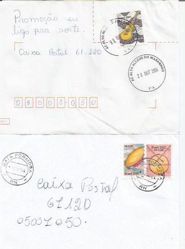 131 - lote c/12 envelopes brasil circulados - diferentes