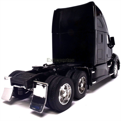 1:32 tracto camion kenworth t700 a escala negro con dolly